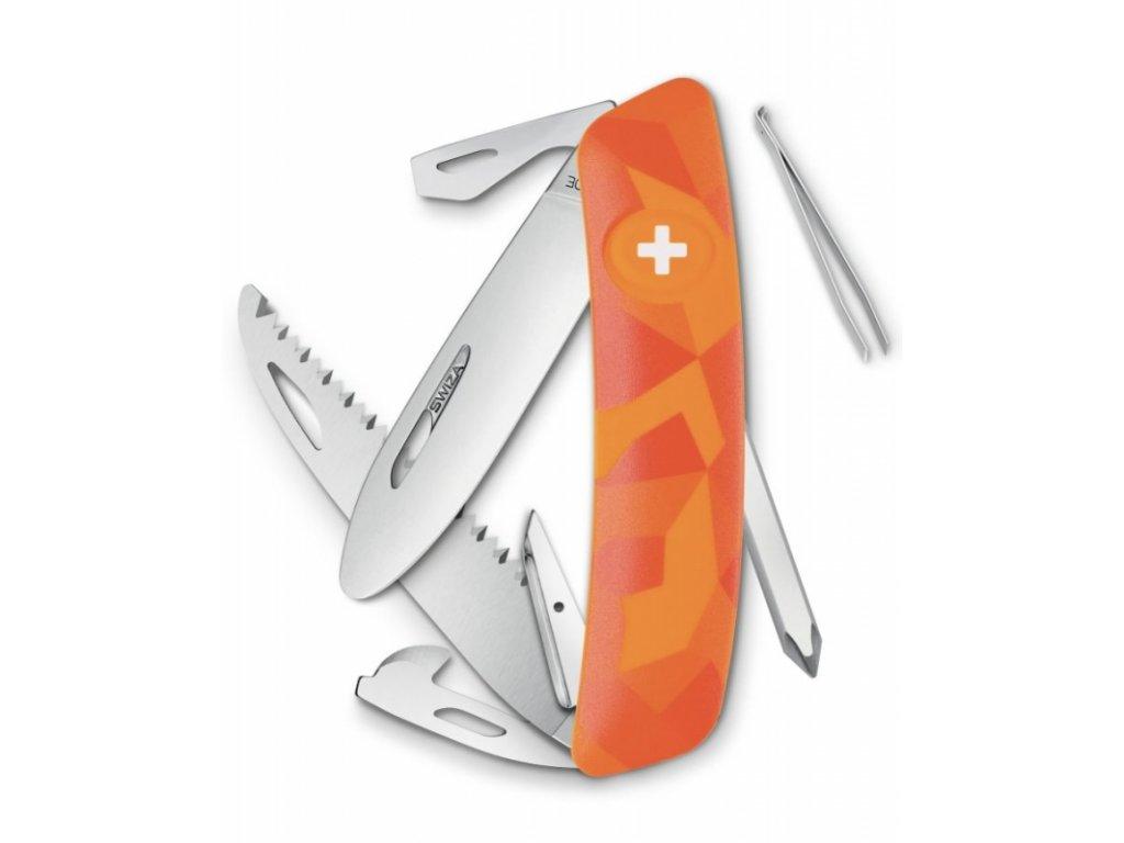 Swiza kapesní nůž Junior J06 R Camo Luceo orange