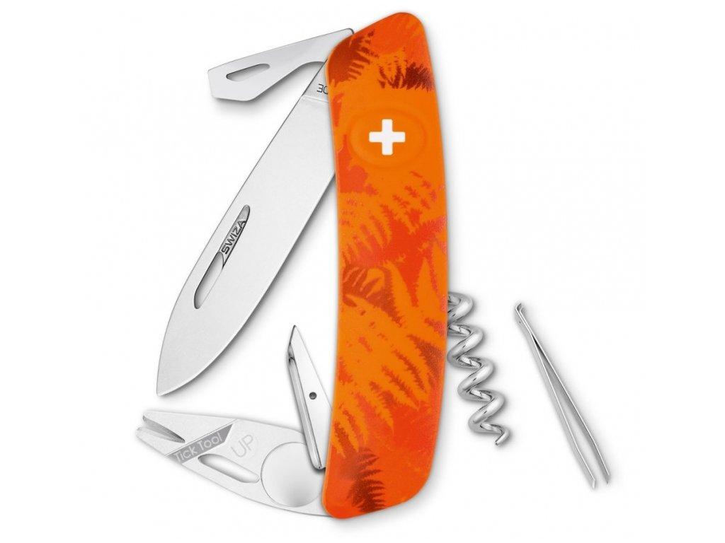 Swiza kapesní nůž TT03 Tick-Tool Camo Filix orange