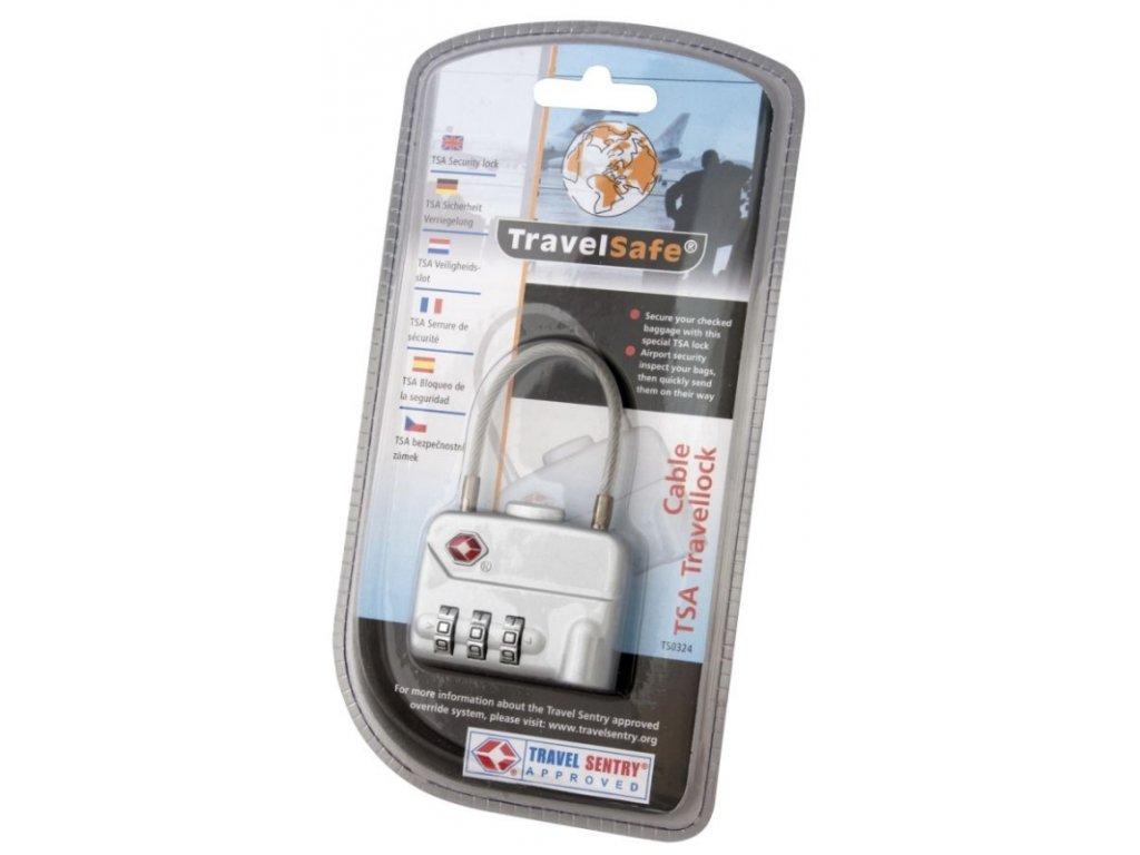 TravelSafe kombinační zámek TSA Cable Travellock