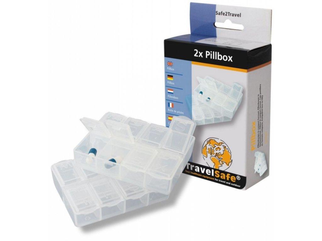 TravelSafe sada dávkovačů na léky Pillbox