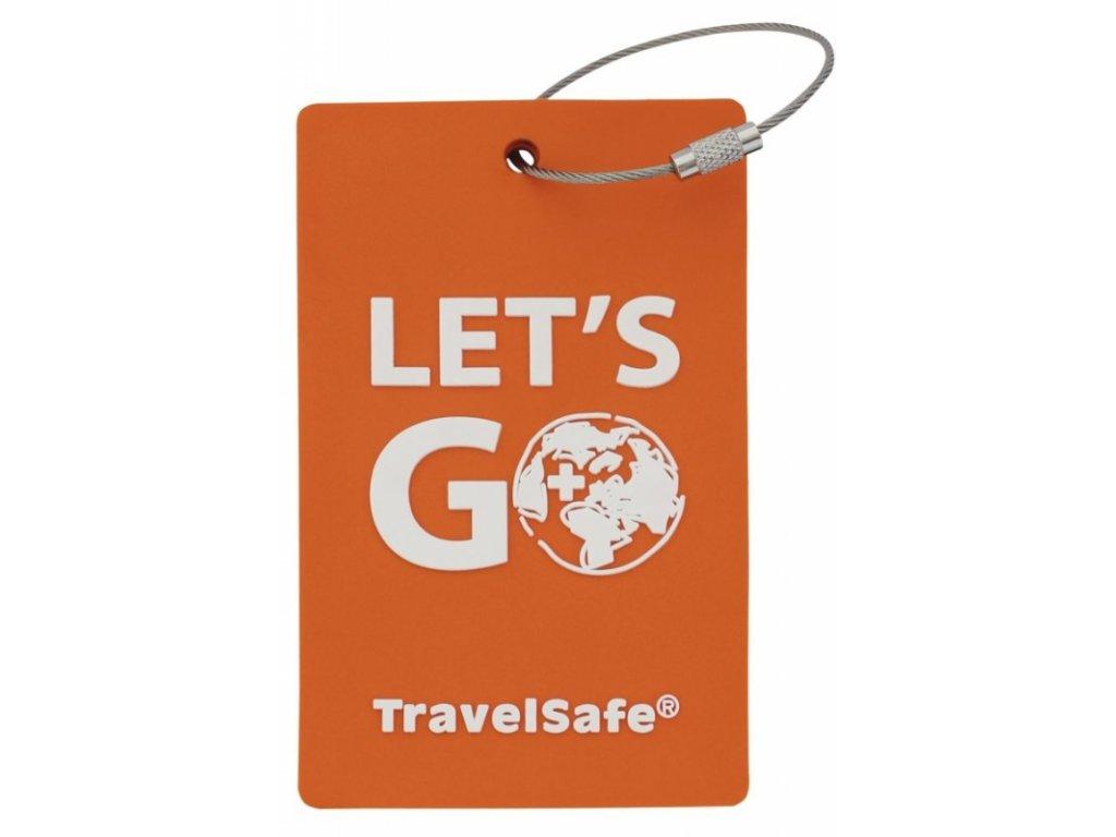 TravelSafe visačka Rubber Luggage ID orange