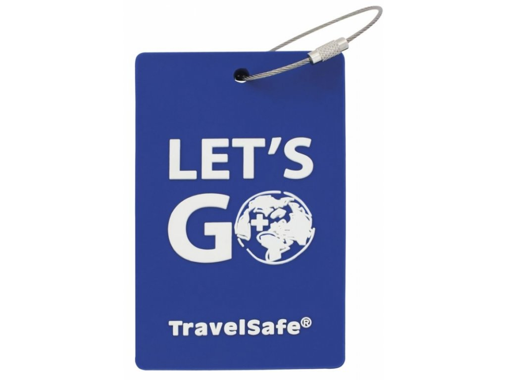TravelSafe visačka Rubber Luggage ID royal blue