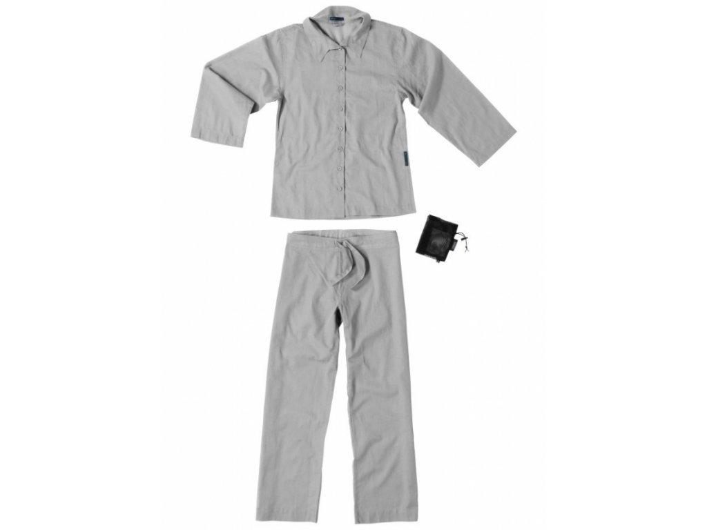 Cocoon dámské pyžamo Insect Shield Travel Pyjama safari grey M