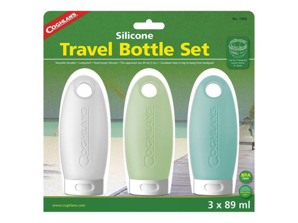 Coghlan´s sada lahviček Silicone Travel Bottles 3Pack