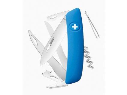Swiza švýcarský kapesní nůž D07 blue