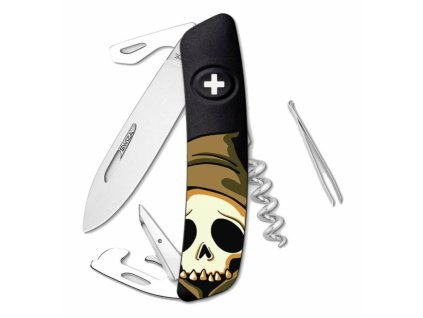 Swiza kapesní nůž D03 Halloween Skull Head black