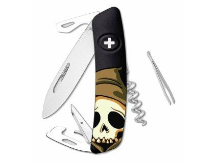 Swiza švýcarský kapesní nůž D03 Skull Head black