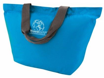 TravelSafe skládací taška Foldable Shoptasche azure