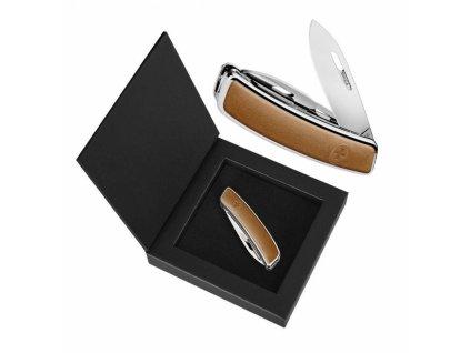 Swiza luxusní kapesní nůž D03 Leather brown
