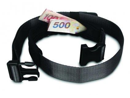 Pacsafe Cashsafe 25 black bezpečnostní opasek