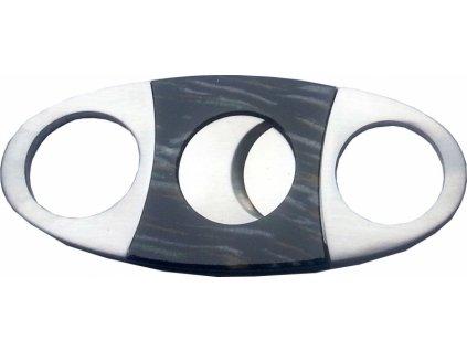 Acron nerezový ořezávač doutníků černý
