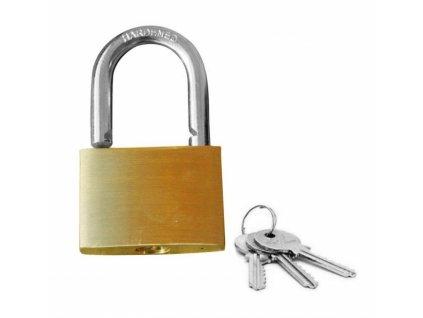 BCB Adventure mosazný zámek s klíčky Brass Padlock