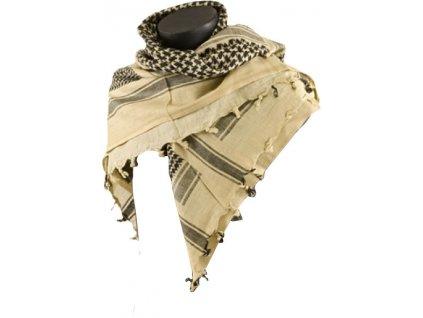 BCB Adventure univerzální šátek Shemag béžový