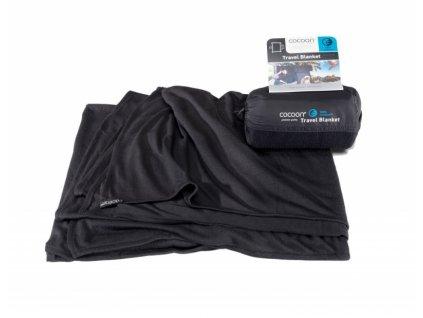 Cocoon cestovní deka Coolmax black