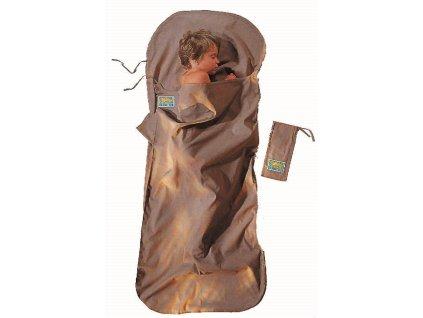Cocoon dětská spacáková přikrývka bavlna khaki