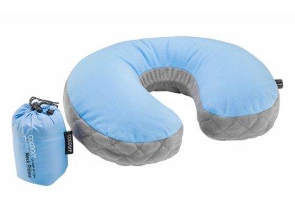 Cocoon nafukovací podhlavník Ultralight Air-Core light blue