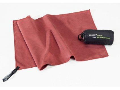 Cocoon ultralehký ručník S marsala red