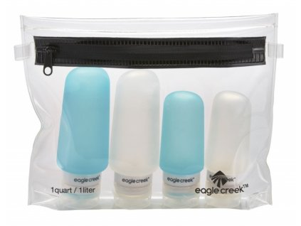 Eagle Creek sada lahviček Silicone Bottles Set clear/aqua