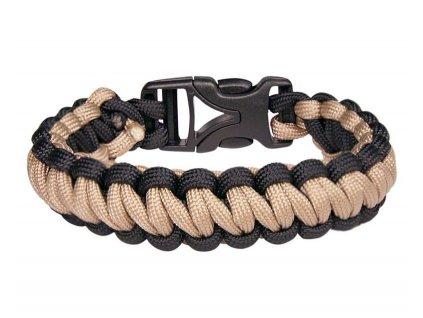 Coghlan´s náramek Paracord Bracelet béžový/černý