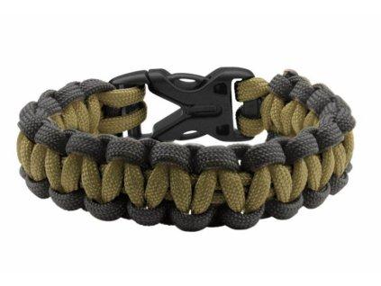 Coghlan´s náramek Paracord Bracelet olivový/černý