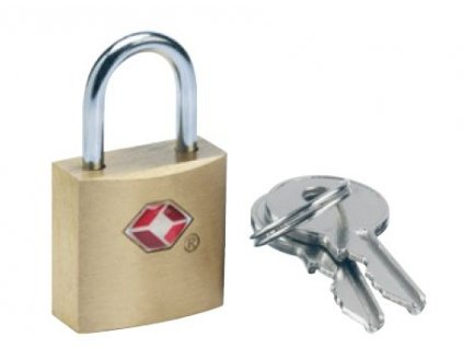 Go Travel mosazný zámek TSA s klíčky