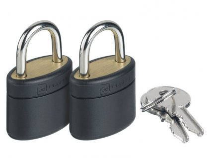 Go Travel sada zinkových zámků s klíčky