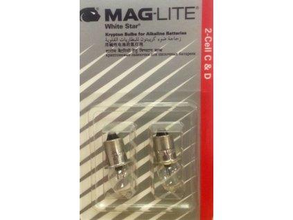 Maglite žárovka White Star 2-Cell C & D