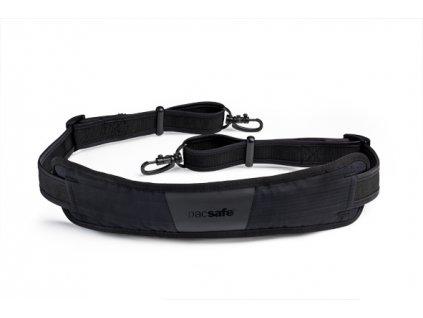 Pacsafe Carrysafe 200 black bezpečnostní popruh