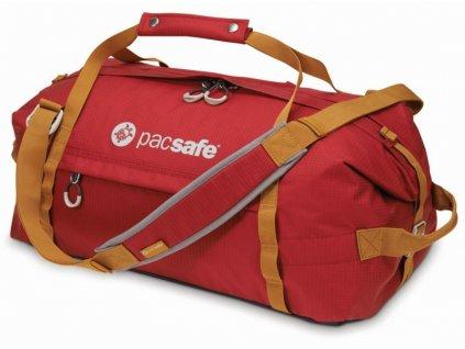 Pacsafe Duffelsafe AT45 chili/khaki cestovní taška - výprodej