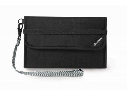 Pacsafe RFIDsafe V250 black bezpečnostní peněženka