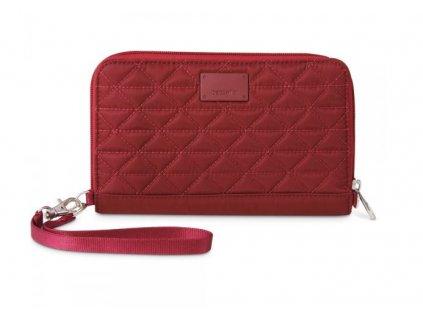 Pacsafe RFIDsafe W200 cranberry bezpečnostní peněženka - vzorek