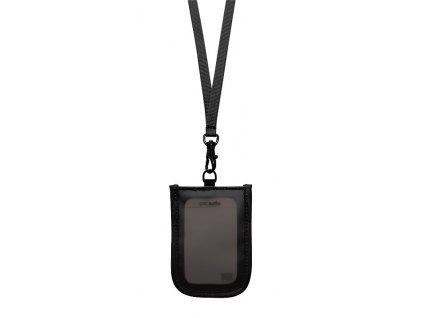 Pacsafe RFIDtec 25 black pouzdro na krk - výprodej