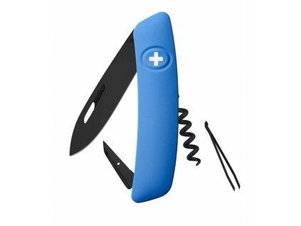Swiza švýcarský kapesní nůž D01 Allblack blue