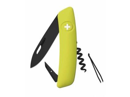 Swiza švýcarský kapesní nůž D01 Allblack moss