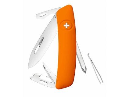 Swiza švýcarský kapesní nůž D04 orange