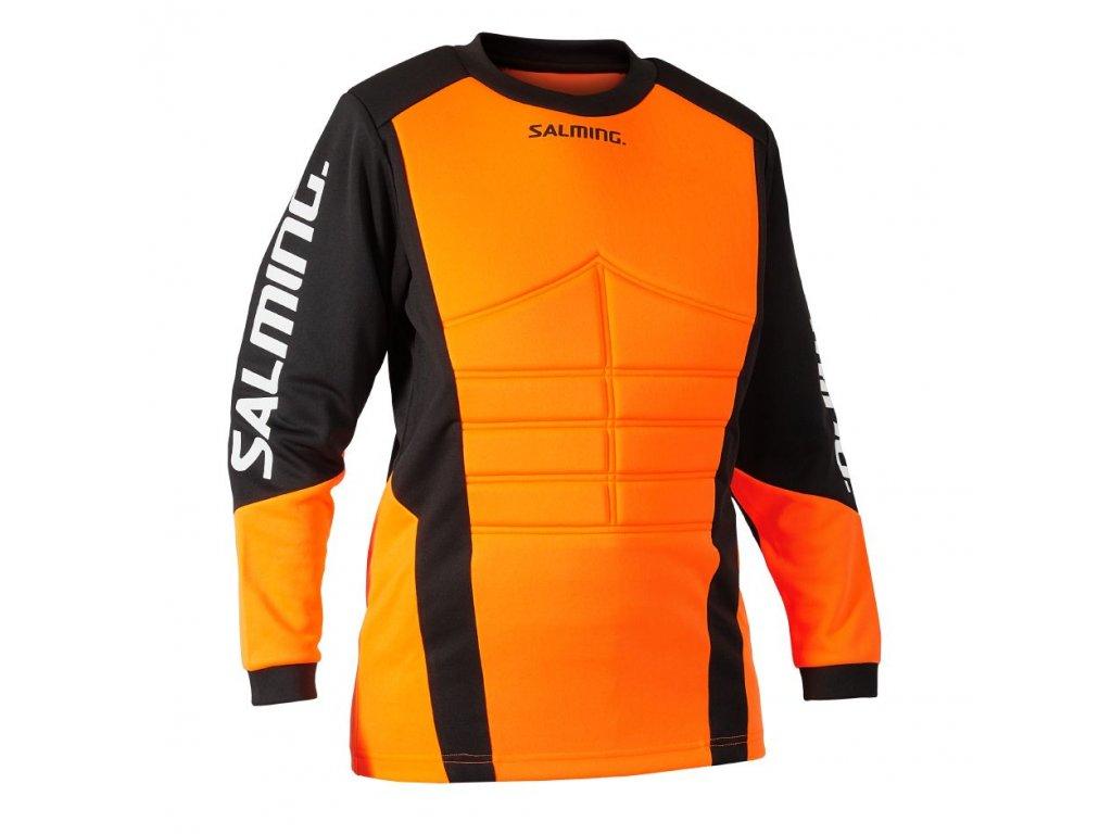 Salming Atlas Goalie Jersey JR Orange/Black (Velikost 164)