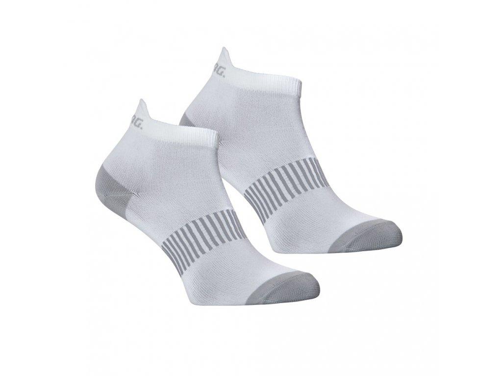 Salming Performance Ankle Sock 2p White (Velikost 43-46)
