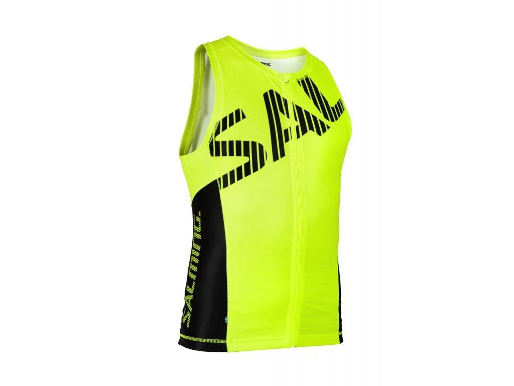 Salming Triathlon Singlet Men Yellow/Black (Velikost XXL)