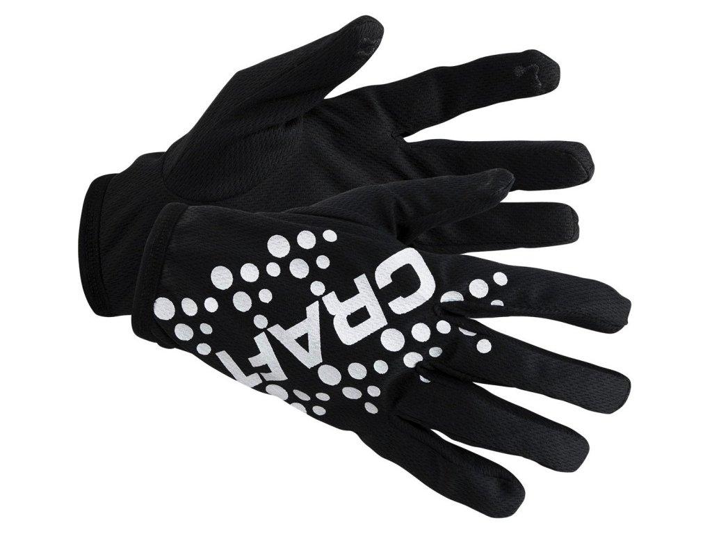 craft printed glove black