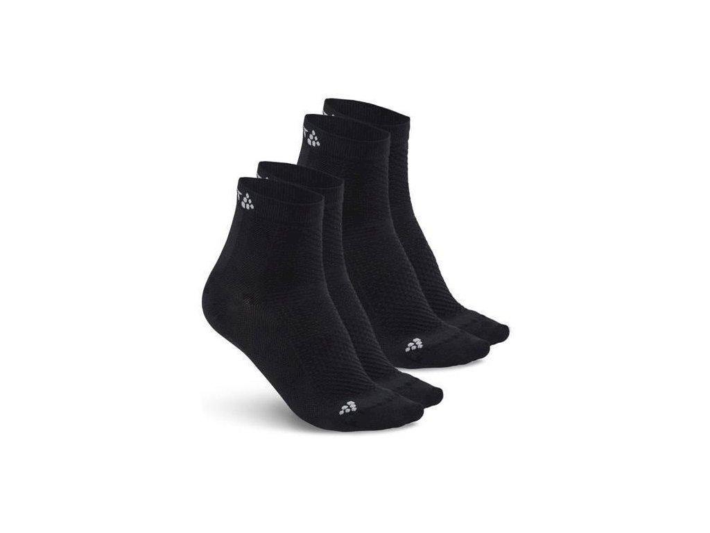f4c03675135 CRAFT Cool Mid 2-pack ponožky - černé - ACsport.cz