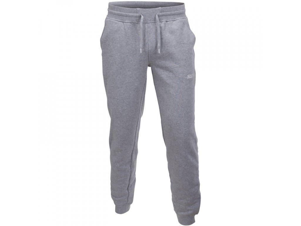 Swix SWEAT PANTS pánské tepláky ze 100% bavlny - šedé