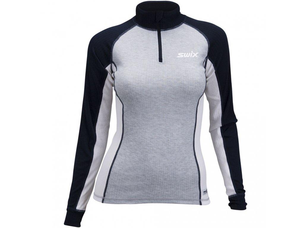 Swix RACEX Bodywear dámské triko stojáček - šedé