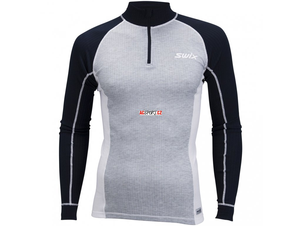 Swix RACEX triko LS - šedé