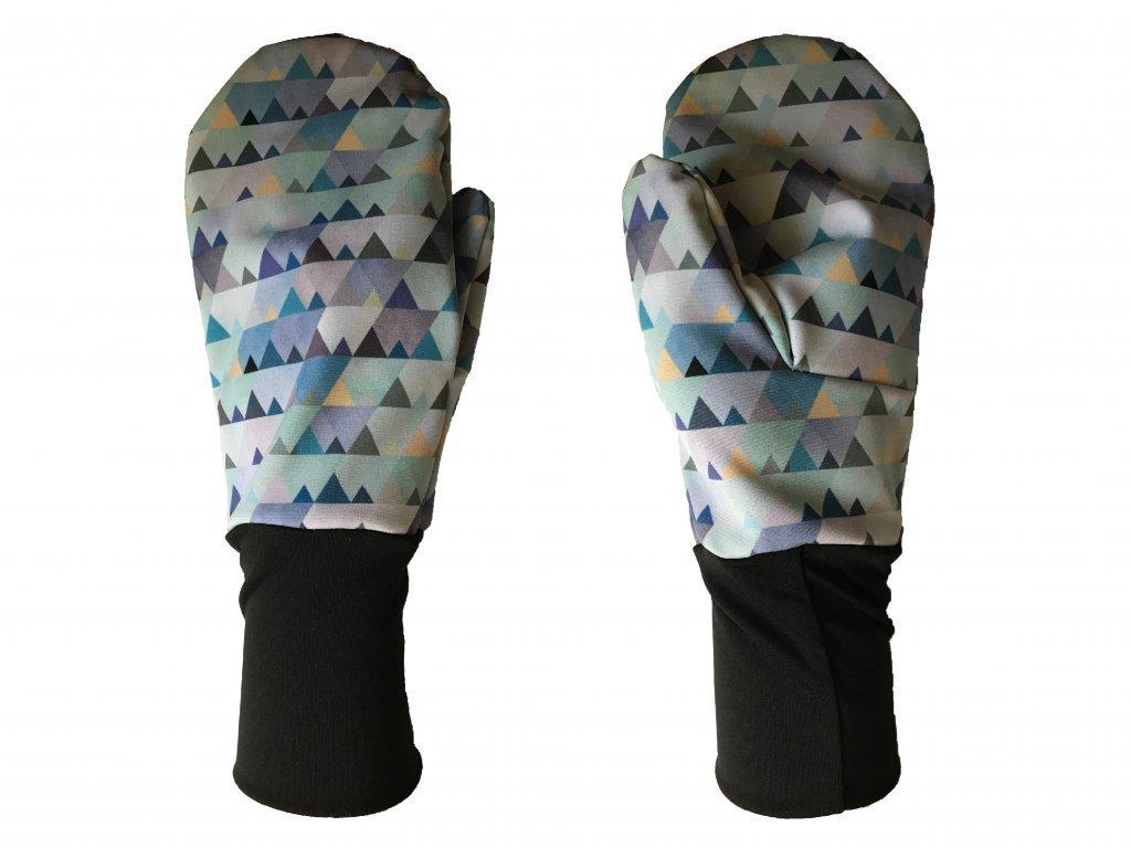 1754 rukavice hory modra