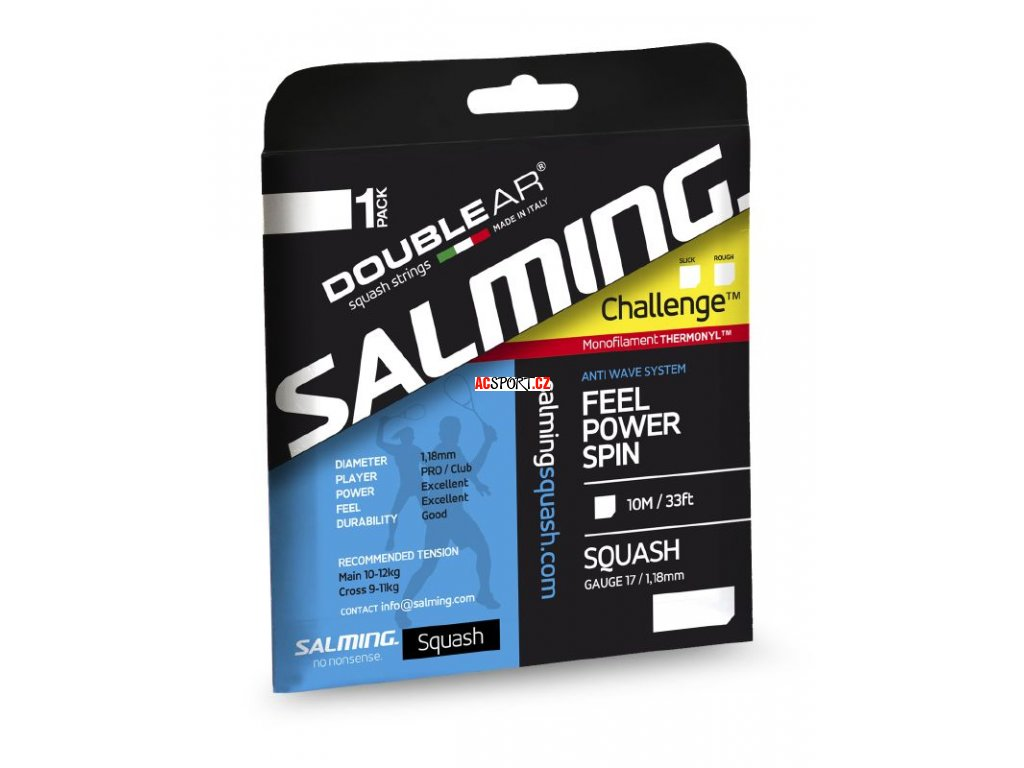 Salming Challenge Slick String Single (Barva Červená)