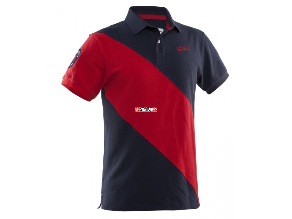 Salming Ivy Polo Men Navy/Red (Velikost XL)