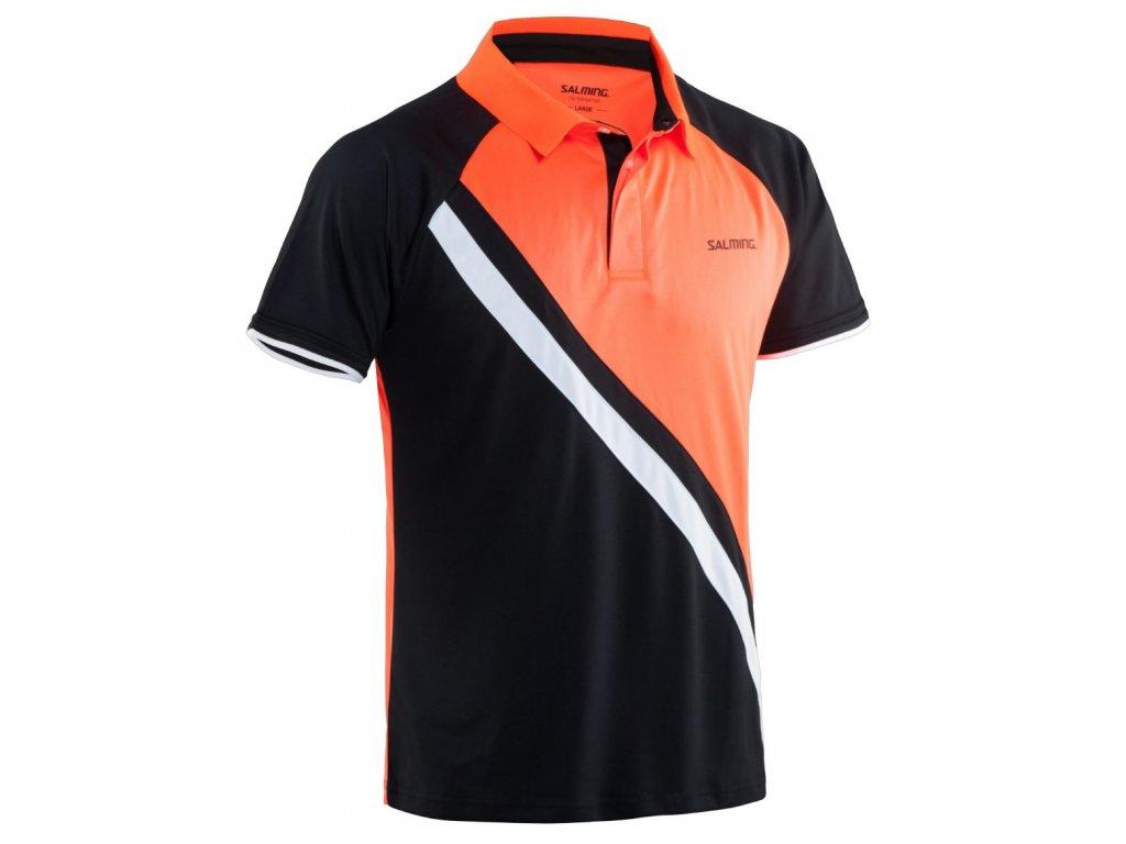 Salming Performance Polo Men Black/Magma Red (Barva Černá, Velikost XL)