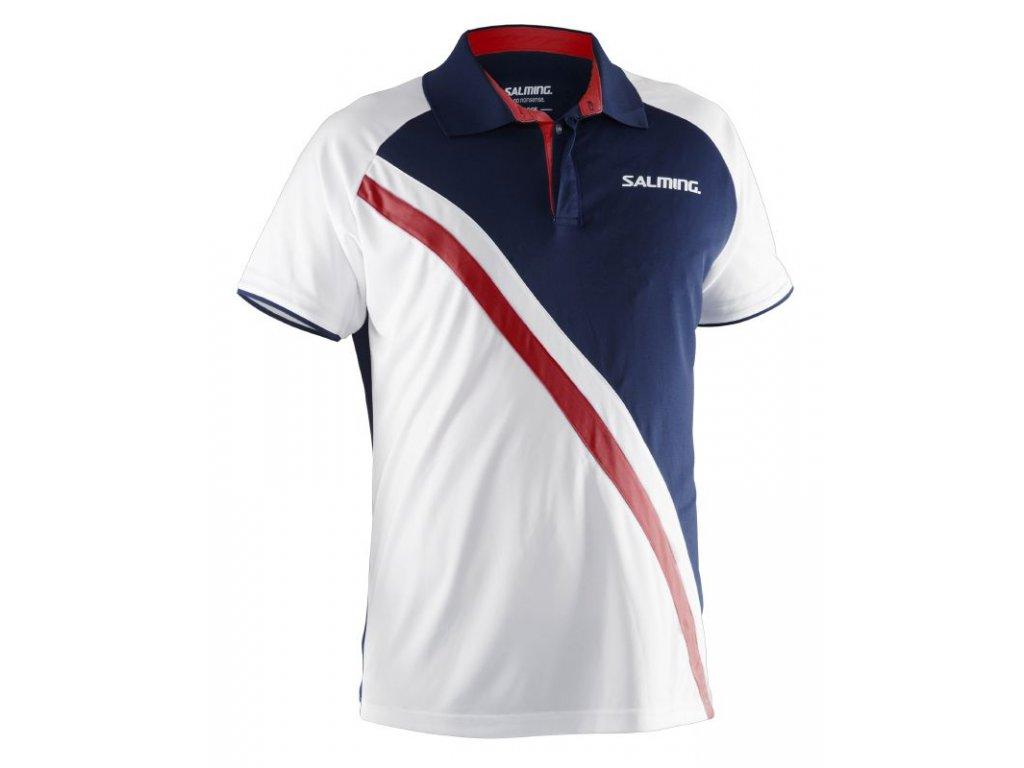 Salming Performance Polo Men Navy/White (Barva Bílá, Velikost XL)