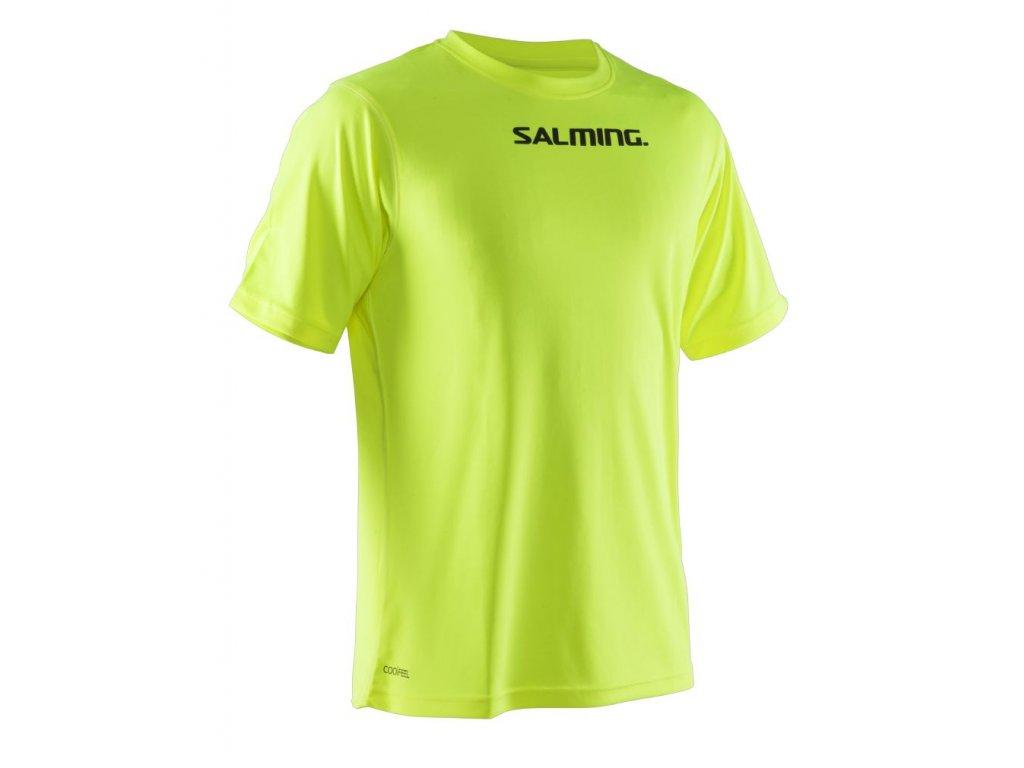 Salming Focus Tee Safety Yellow (Barva Limetková, Velikost XXL)