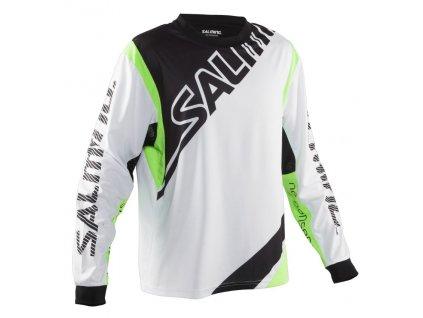 Salming Phoenix Goalie Jsy JR White/GeckoGreen (Velikost 164)